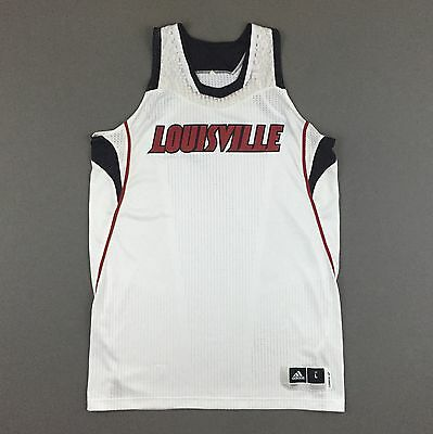 Adidas Rev 30 Louisville Cardinals Basketball Team Issue Jersey Blank Men Large