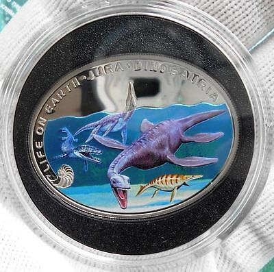 Niue 1 $ 2013 Jurassic period - Life under water Silver