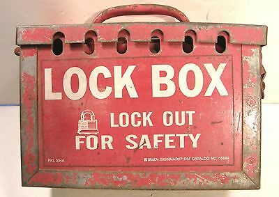 Brady Pkl304A Portable Group Metal Lock Box Safety