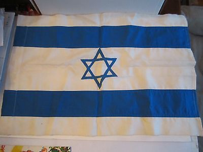 """Vintage State Of Israel Flag - 23"""" X 16"""" - Ofc-Cc"""