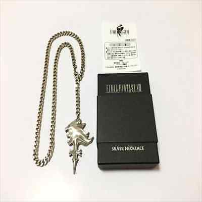Rare! Final Fantasy VIII Sleeping Lion Heart SQUARE Official 925 Silver Necklace