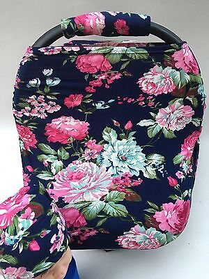 Stretchy Car Seat Canopy Multi Use Cover Baby Beanie Carrying nursing cover