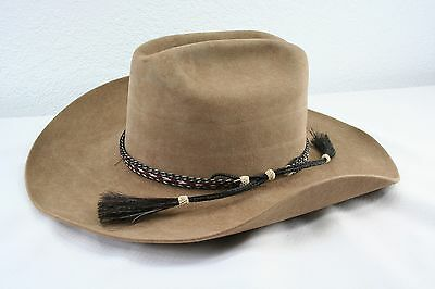 Vintage Western Brown 5X Beaver Quality Cowboy Hat Rodeo King 6-7/8
