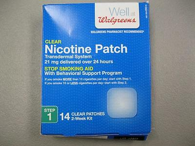 Walgreens Clear Nicotine Patch Step 1 14 Count NEW