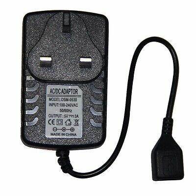 5V 3A UK Plug 3000mA Cellphone Tablet PC Female USB Charger Adapter Power Supply