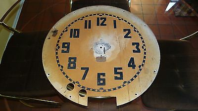 Large Antique Vtg Electric Neon Clock Company Cleveland OH Tin Clock Face Part