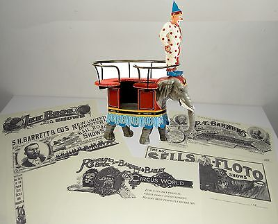 Ringling Bros & Barnum & Bailey etc 5 Different Circus Reproduction Letterheads.