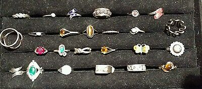 NOS Vintage lot of 25 sterling silver rings  LOT 3