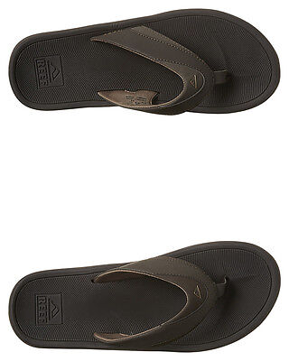 New Reef Men's Modern Thong Rubber Synthetic Mens Shoes Brown