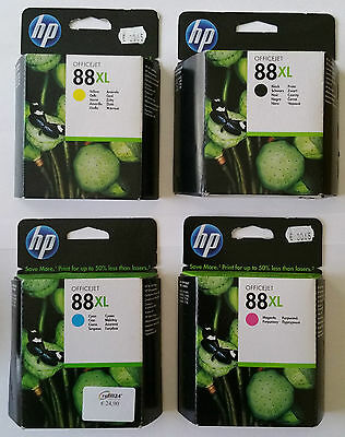 Hp 88Xl . Black☆☆Cyan☆☆Magenta☆☆Yellow . Original