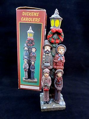 """Windsor Collection Pencil Vintage Statue of Dickens Christmas Carolers 12 1/2"""""""