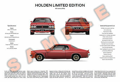 Customisable Holden HX Limited Edition LE Coupe Monaro V8 poster