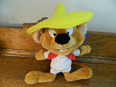 WARNER BROS Looney Tunes SPEEDY GONZALES with TAGS Plush Stuffed 1997 ACE mouse