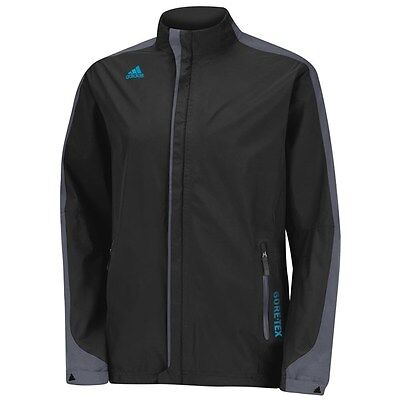 Adidas Climaproof 2 Layer Full-Zip Golf Gore tex Jacket BLACK Size L Z88359