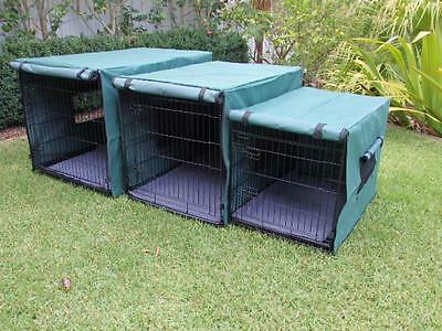"Dog Cat rabbit collapsible crate 36"" 42"" 48"" Somerzby Pet cage with COVER"