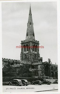 Real Photographic Postcard Of St Paul's Church, Bedford, Bedfordshire, Ra Series