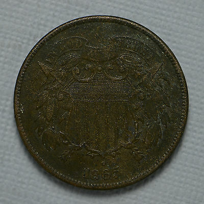 1865 Two Cent Piece Corrosion (cn1556)