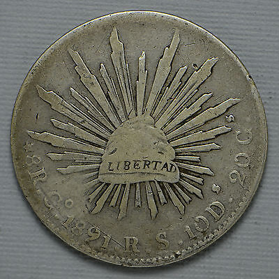 1891 GO RS Mexico 8 Reales (cn1554)