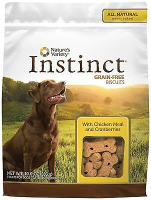 Nature's Variety Instinct Grain-Free Dog Biscuit,10,Chicken Meal (NVY-335) NEW