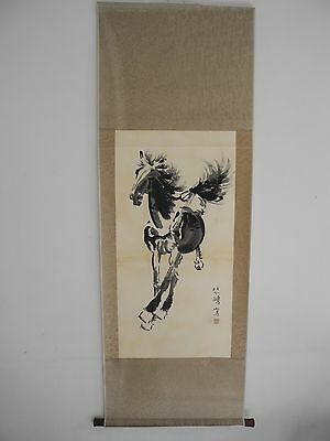 Excellent old Chinese Scroll Painting By Xu Beihong: horse Z09