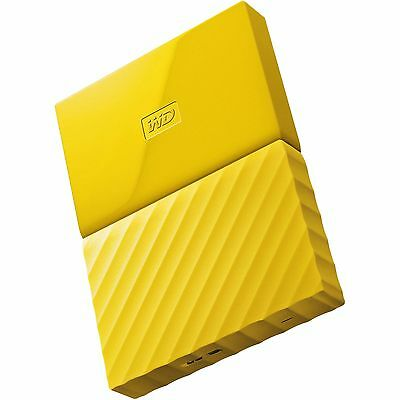 Western Digital HDD 1TB My Passport Yellow USB3.0 625MB/s External Hard Drive ct