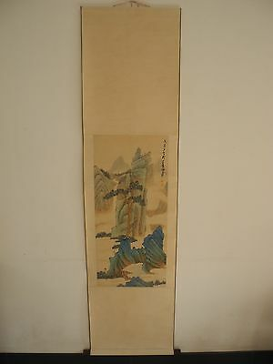 Excellent old Chinese Scroll Painting By Zhang Daqian :landscape Z10