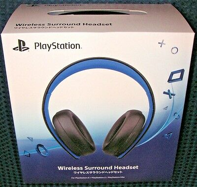 NEW SONY PlayStation 4 3 Wireless 7.1 Virtual Surround Stereo Headset JAPAN F/S