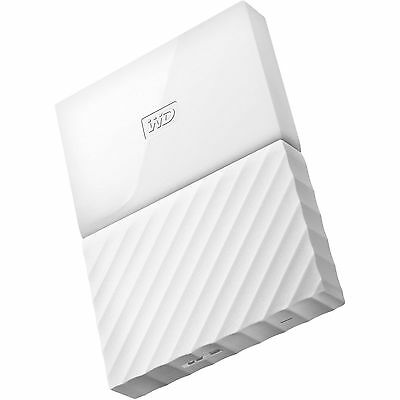 Western Digital HDD 1TB My Passport White USB 3.0 625MB/s External Hard Drive ct