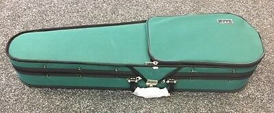 JTL Shaped Violin Case, Green, 3/4 Size - Brand New, Free Delivery!