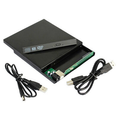 07S8 Laptop USB to Sata CD DVD RW Drive External Case Caddy