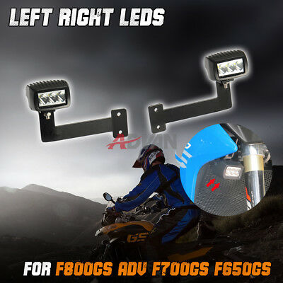 Front LED Auxiliary Fog Spot Lights & Bracket fit For F800GS 2013-2015