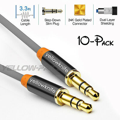 AUX Cable / AUX Cord [Copper Shell, Hi-Fi Sound Quality] Metal 3.5mm Audio Cable