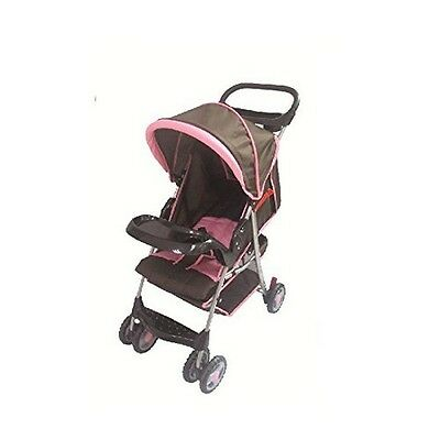 Amoroso 22273 Convenient Baby Stroller, Brown/Pink NEW