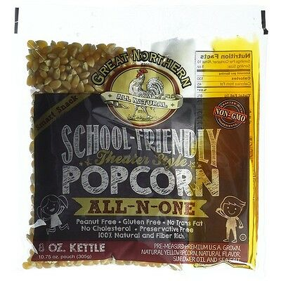 Great Northern Popcorn School Friendly 8 Ounce Popcorn Portion Packs, Case of 24
