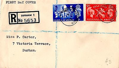 Gb Kgvi 1951 Festival Of Britain First Day Cover 3 May