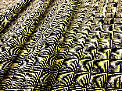 Momo Gold H81 Yellow Moroccan Curtain Fabric Retro African Woven Aztec