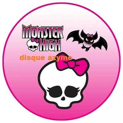1 disque azyme monster high Rond   20 cm