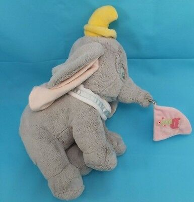 Disney Exclusive Authentic Dumbo Soft Plush Toy Holding Flag With Disney Stamp