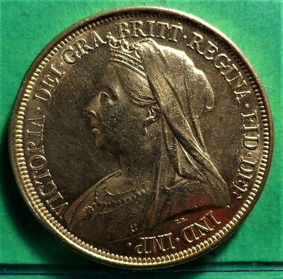Very Rare ,  1893 Five Pounds , £5, FROM VICTORIA , XF , Gold