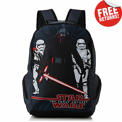 Boys School Bag Backpack Rucksack Star Wars Force Awakens Official Licensed