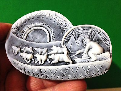 Magnet Akita dog sled racing dogs from Russia marble chips laikas