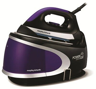 Morphy Richards Steam Elite 330017 Steam Generator Iron Purple Ionic Soleplate