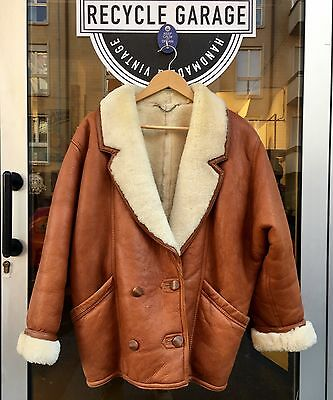 Cappotto Shearling Original Vintage Montone Tg 42 Oversize Donna
