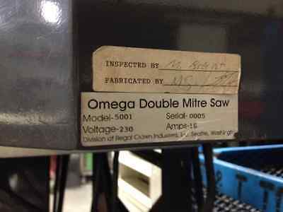 Omega Model 5001 Double Mitre Saw (12 inch blades)