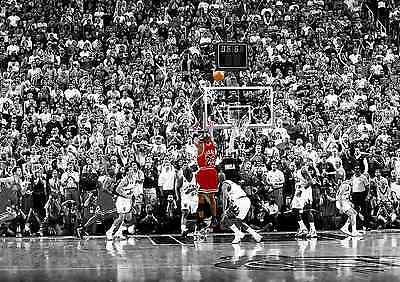 Basketball Michael Jordan The Last Shot Nba Poster Print Art Size A4 A2 A1 A0