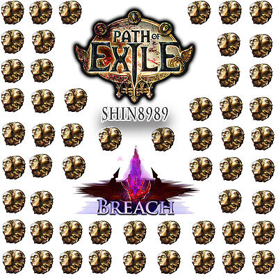 POE Path of exile 20x Exalted Orb Breach League sc