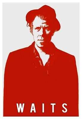 Tom Waits  **LARGE POSTER**  Large Pop-Art Design AMAZING IMAGE