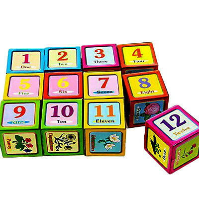 Kids 6 Puzzles In 1 Cube Puzzle Alphabet Number Picture Educational Toy Cubes