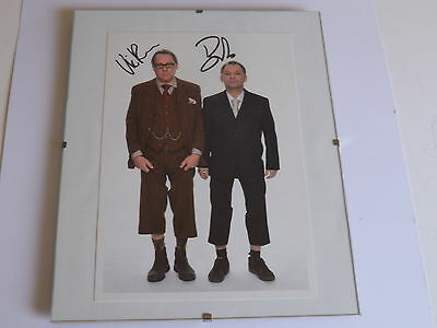 VIC REEVES & BOB MORTIMER, SUPERB SIGNED AUTOGRAPHED A4 PRINT  (pp) MINT