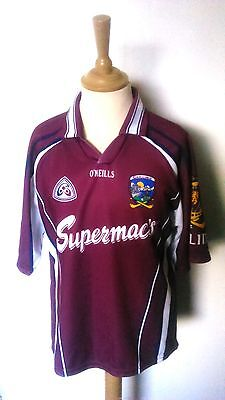 Galway GAA Official O'Neills Hurling Jersey (Youths 10-11 Years)